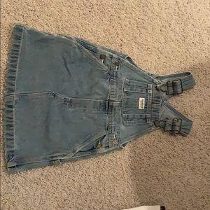 Oshkosh Jean skirt overalls size 4T